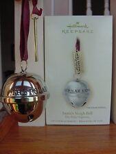 2007 HALLMARK THE POLAR EXPRESS SANTA'S SLEIGH BELL CHRISTMAS ORNAMENT MIB