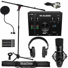 M-Audio Air 192 | 4 Pro Home Recording System w Microphone & Headphones Pack