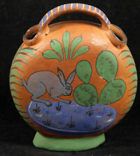 Antique Mexican Ceramic Water Vessel Pottery Hand Made/Painted Folk Art Rare