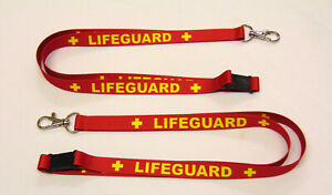 LIFEGUARD 15mm lanyard with safety breakaway for ID, keys, whistle etc. UK made