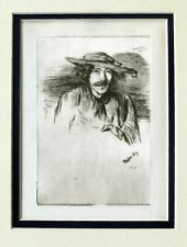 JAMES WHISTLER, SELF PORTRAIT ETCHING - His favorite image.