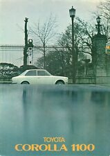 Toyota Corolla 1100 KE10 1967-68 UK Market Foldout Sales Brochure Saloon Estate