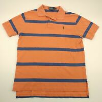 Polo By Ralph Lauren Mens Short Sleeve Orange And Blue Striped T Shirt Size L