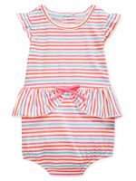 First Impressions Baby Girls Striped Peplum Sunsuit Romper Bodysuit One-Piece