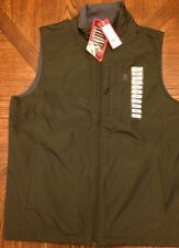 NWT IZOD $80 WIND WATER RESISTANT MENS POLAR FLEECE LINED VEST OLIVE SMALL