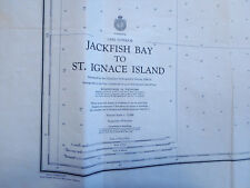 Canadian Nautical Chart 1977 Lake Superior Jackfish Bay to St. Ignace NEW