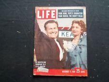 1958 NOVEMBER 17 LIFE MAGAZINE - NELSON AND HAPPY ROCKEFELLER - L 1131