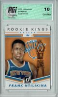 Frank Ntilikina 2017 Donruss #8 Rookie Kings SP Rookie Card PGI 10