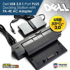 Latitude E4200 E4300 E5250 E5270 Dell E-Port Plus II USB 3.0 Docking Station +AC