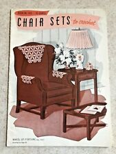 Vintage Chair Sets to Crochet Instructional Booklet by Spool Cotton Company 1939