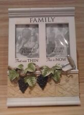 """Photo Frame """"Family, then & now"""". Holds 2 photos, each 50x80mm. Very nice."""
