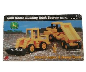Rare John Deere Combine And Gravity Wagon Building Brick System By Ertl