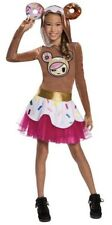 Tokidoki Donutella Costume Child Large (10-12) Hooded Dress Donut Ears Nwt New