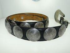 Al Beres Wage German Silver Concho Southwestern Women'S Leather Belt