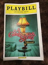 A Christmas Story Broadway Playbill November 2012