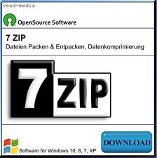 WINZIP, ZIP UNZIP RAR, 7ZIP Dateien Packen, Software zum Entpacken, Extrahieren