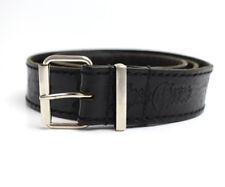Vintage Mens Leather Belt Black Size 40