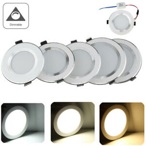 Dimmable LED Recessed Ceiling Light 12W 9W 7W 5W 3W Round Downlight Fixture ERM