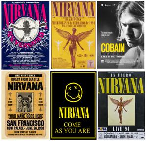 VINTAGE NIRVANA music tour singer band poster/print A4/A3