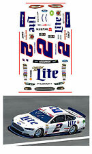 2015 #2 Miller Lite Ford Fusion 1/64 scale decal Afx Tyco Lifelike