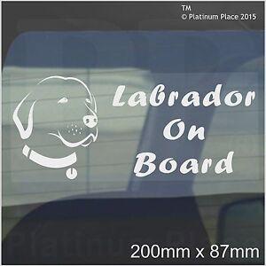 Labrador Dog On Board Sticker-Car,Van,Truck-Self Adhesive Pet Window Sign