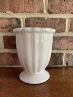 Large Edible Arrangements White Footed Vase Planter Heavy Excellent