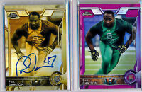PAUL DAWSON = 2015 Chrome Rookie GOLD SEPIA AUTO /150 & Pink RC Refractor /399