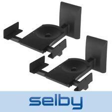 2 Pcs Speaker Brackets Wall Mounts Heavy Duty 15kg for Bookshelf Loudspeakers