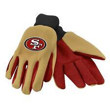 San Francisco 49ers Beige/Red Team Logo Licensed NFL Sport Utility Gloves-New