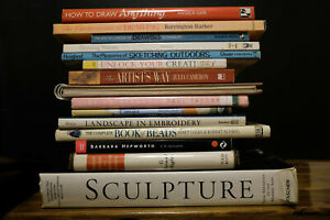 Books Job lot of 15 Sculpture, drawing, painting, applique, beads pottery artist