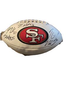 San Francisco 49ers Team Signed Logo Football (Jimmy G Kittle & More)