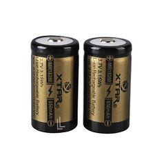 2x Xtar imr18350 agli Ioni di Litio BATTERIA 850 mAh 3,7 V non protetto senza PCB 18350