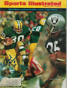 1968 PACKERS Chuck Mercein signed Sports Illustrated magazine JSA COA AUTO SI SB