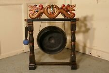 Painted Chinese Table Dinner Gong