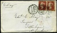 C8A SG37 1856 (Nov) 1d Reds Plate 42 (OB) (OC) Scarce single £375.00 off cover