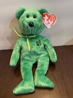 "Ty Beanie Babies 2002 DUBLIN The St. Patrick's Green Bear 8"". SHIPS FREE!!!"