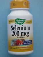 Nature's Way Selenium Selen 200 mcg 100 Kapseln Hefefrei starkes Antioxidans