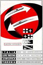 FINMARE- G.Patrone - Lloyd triestino-Adriatica-Tirrenia-viaggi ITALIA-frecce