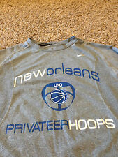 Rare XL New Orleans Privateers Nike Tri Blend Shirt Basketball UNO Saints vtg