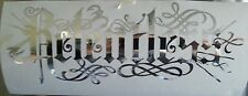 CHROME Relentless windscreen euro dub decal sticker vinyl mitsubishi vw toyota