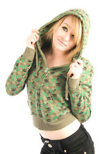 Loungefly - Small - Camo Skull Hoodie Cute Sweater Camouflage Green Army SM NWT