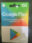 15€ Google Play Gift Card  GREEK STORE ONLY. FREE SHIP ABSOLUTELY GEnuine