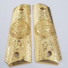 1911 GRIPS Full Size 45 Commander Gold Plated For SPRINGFIELD ARMORY 1911