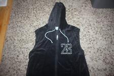 e7c1620cf85a23 Air Jordan Velour Vest Sweatshirt Full Zip Velvet Black Jumpman Vtg XL 23