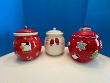 Hallmark Christmas Cookie Jars (Set of 3)