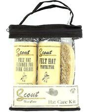 SCOUT FELT HAT CARE KIT - For Black and Dark Colors - Travel Cleaning Set