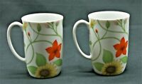 Fitz And Floyd Petite Fleur Sunflower Vine Coffee Tea Cup 1975 Set of 2