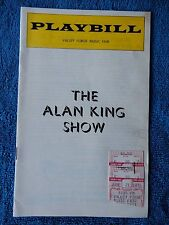 The Alan King - Valley Forge Music Fair Playbill w/Ticket - June 21st, 1976