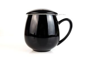 BLACK TEA CUP AND INFUSER - LOOSE FRUIT TEA GREEN TEA EARL GREY STRAINER SPICES