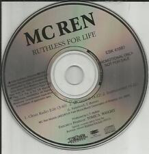 Nwa MC REN Ruthless for Life 3TRX CLEAN & INSTRUMENTAL PROMO DJ CD Single n.w.a.
